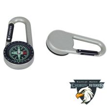 Silver chongfu paracord pocket compass gift