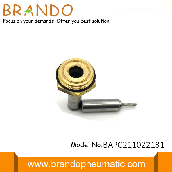 Silver Solenoid Valve Stem With Tube Height Of 22.1mm