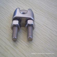 Attachez les agrafes de câble métallique d'acier inoxydable DIN741