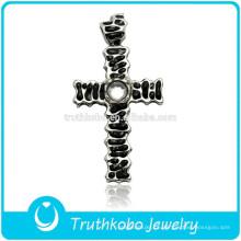 2016 loja online antique cruz de aço inoxidável jóias 4 way cruz oração pingente