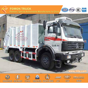 North-Benz 6x4 16m3 refuse compactor garbage truck