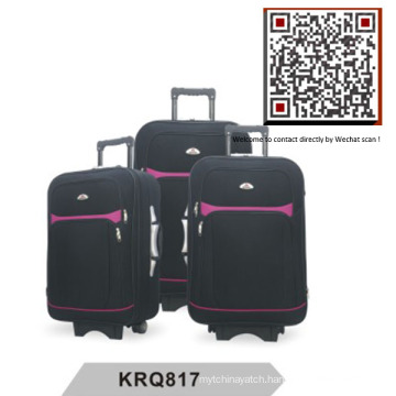 Hotsale Shantung Silk EVA Outside Trolley Luggage (KRQ817)