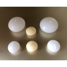Оптовая неароматизированный натуральный слоновая кость белый вода чай плавающие свечи
