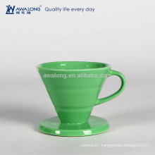 Green Painting Restaurant Used Fine Porcelain Drain Cup