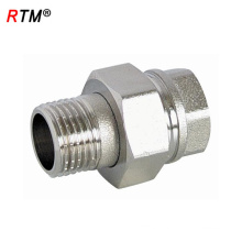 B17 stainless steel street union male pipe fitting male brass connector