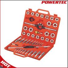 Powertec 45ПК метрической резьбы Метчик и плашки набор