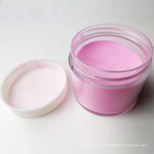 Polvo de acrílico transparente rosado al por mayor, polvo de acrílico claro blanco para el arte del clavo, claro de acrílico del polvo del clavo