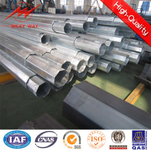 Franch Standard 12m 500-1500dan Stahl Pole Sicherheitsfaktor 2.1