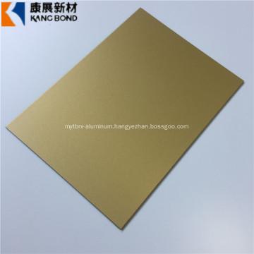 Gold Color Aluminum Composite Panels Building Material