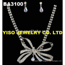 Бабочка кристалл красивое ожерелье для женщин