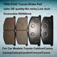 D242 plaquette de frein pour disque Toyota