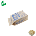 Factory wholesale clear biodegradable packing custom sealable microwave popcorn seeds paper bag/ popcorn plastic bag