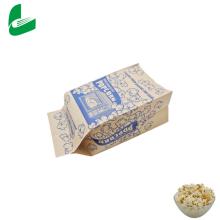 Embalagem transparente e biodegradável por atacado da fábrica, saco de papel com sementes de pipoca de micro-ondas seláveis personalizadas / saco plástico de pipoca