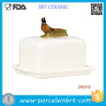 Pheasent on Lid Decorative Kitchenware Ceramic Butter Dish
