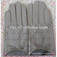 Guantes de conducción para hombre, guantes de cuero para conducir, guantes de conducción de cuero cortos