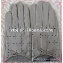 Gants de conduite pour hommes, conduite de gants en cuir, gants de conduite en cuir courts