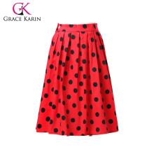 ¡19 colores! Grace Karin Coloridos baratos Occident corto retro vestido de costura de algodón Vintage Mujer falda CL6294-1 #