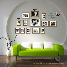 Conmemorar el vinilo impermeable Diy Room Decor Photo Frame Etiqueta de la pared Decoración