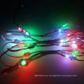 direccionable DC5V redondo digital pixel led luz de cadena programable