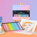 Andstal 24 Colors SQUARE BODY Color Pencils Pastel Color Pencil Professional Colored Pencils