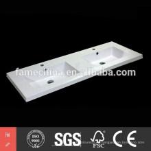 Doble fregadero baño 2015 fábrica directa de mármol poliester doble fregadero baño