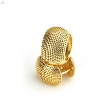 Moda casamento brinco de cobre banhado a ouro latão brincos de argola
