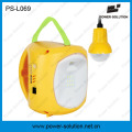 Camping Solar Lantern with Hanging Bulb for Indoor Outdoor Using