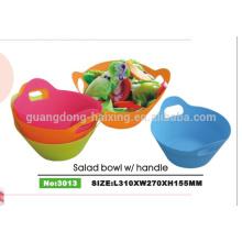 Embalagem e cor personalizada vendas quente tirar saladeira de plástico com tampa