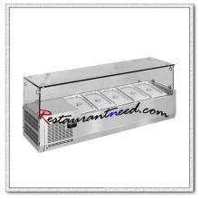 R330 4 casseroles / 5pans / 6pans / 7pans / 8pans / 9pans Réfrigérateur statique de comptoir de refroidissement