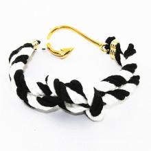 RUNDA venta caliente MOQ pequeña de la cuerda del algodón ancla la pulsera del nudo del marinero