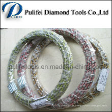 Scie à fil de diamant en plastique de PVC pour la coupe de granit