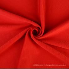 Tissu de maille brodé de tissu d'habillement personnalisé