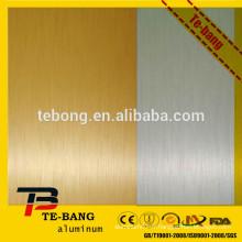 Bloc de transfert de chaleur blanc en sublimation Feuille en aluminium, plaque de surface de brosse