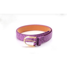 Children snake printing PU waist belt