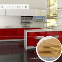 Conseil imperméable et envionmental de mousse de WPC pour le coffret de cuisine