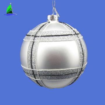 Silver Onion Shaped Christmas Tree Glass Ornaments