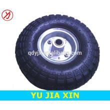 rodas pneumáticas pequenas de borracha das rodas 410 / 350-4