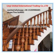 Barandilla de roble rojo antiguo pilar escalera de madera maciza