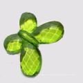 Bulk charm acrylic beads butterfly shaped transparent beads