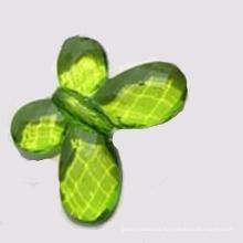 Granos de acrílico del encanto a granel perlas transparentes en forma de mariposa