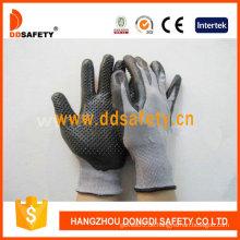 Graues Nylon mit schwarzem Nitril-Handschuh-Dnn426