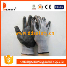 Grey Nylon with Black Nitrile Glove-Dnn426