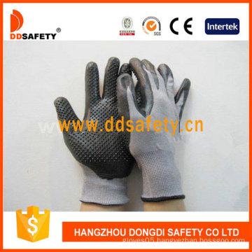 Grey Nylon with Black Nitrile Glove-Dnn426