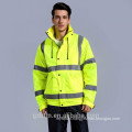 2018 Most Excellent Quality Yellow Hi Vis Workwear Parka High Visibility Refelctive Safety Winter Padding Work Jacket with Hood