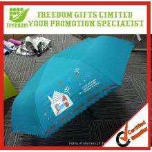 Guarda-chuvas de chuva dobráveis baratos 190T