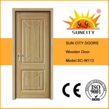 Portas de madeira maciça exteriores usadas para a venda (SC-W113)