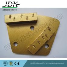 Plaque trapézoïdale de meulage PCD Chunk