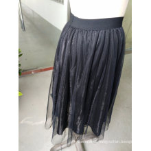 Pure Pleated Yarn Fashion Ladies Skirt