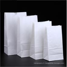 Sacs en papier d'emballage de pain baguette imprimés personnalisés