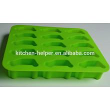 2015 Neuer Produkt-Berufshersteller Nahrungsmittelgrad Antihaft-Karikatur-Auto-Form-Silikon-Eis-Behälter / Eis-Form